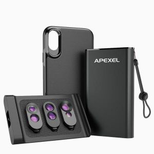 Dual Camera Lens Kit With Phone Case for iPhoneX / Xs / Xs Max